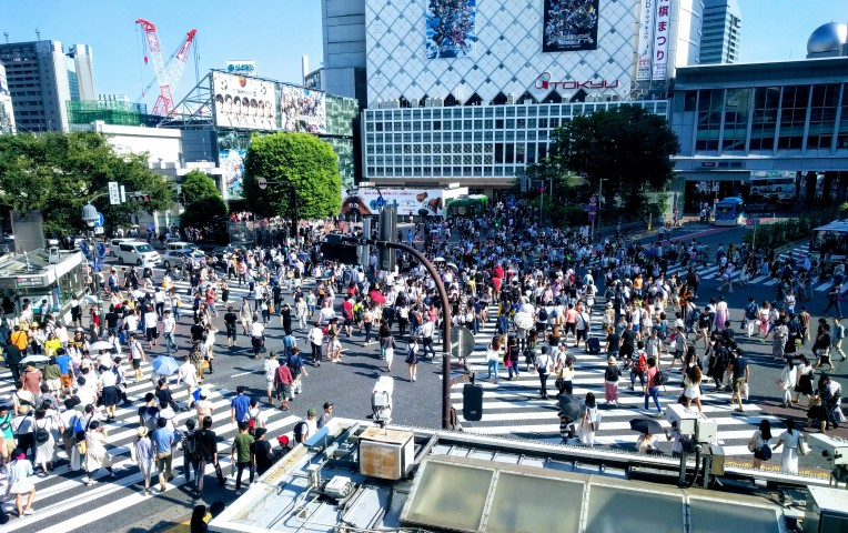 Over 2,500 people often navigate Shibuya crossing at a time